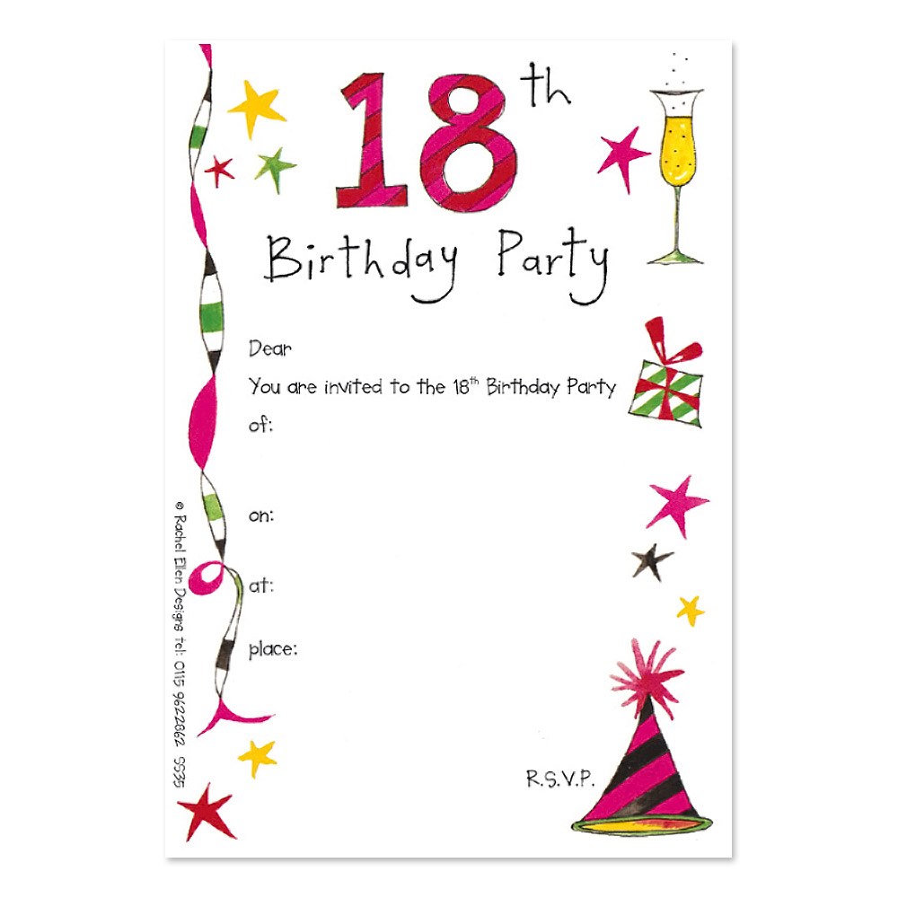 18th birthday photo invitations ; 5869