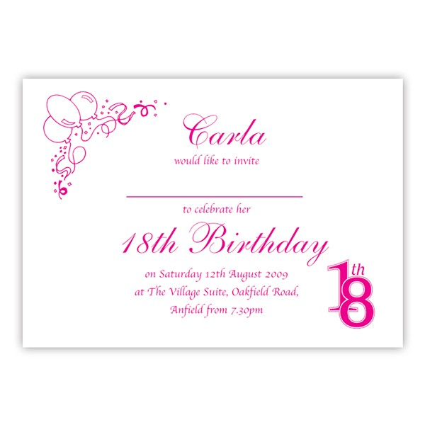 18th birthday photo invitations ; dbmf111