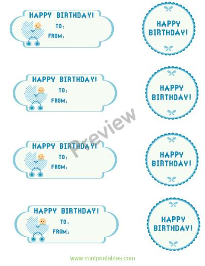 1st birthday gift tags ; baby-boy-preview