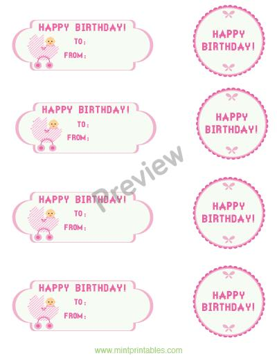 1st birthday gift tags ; baby-girl-preview