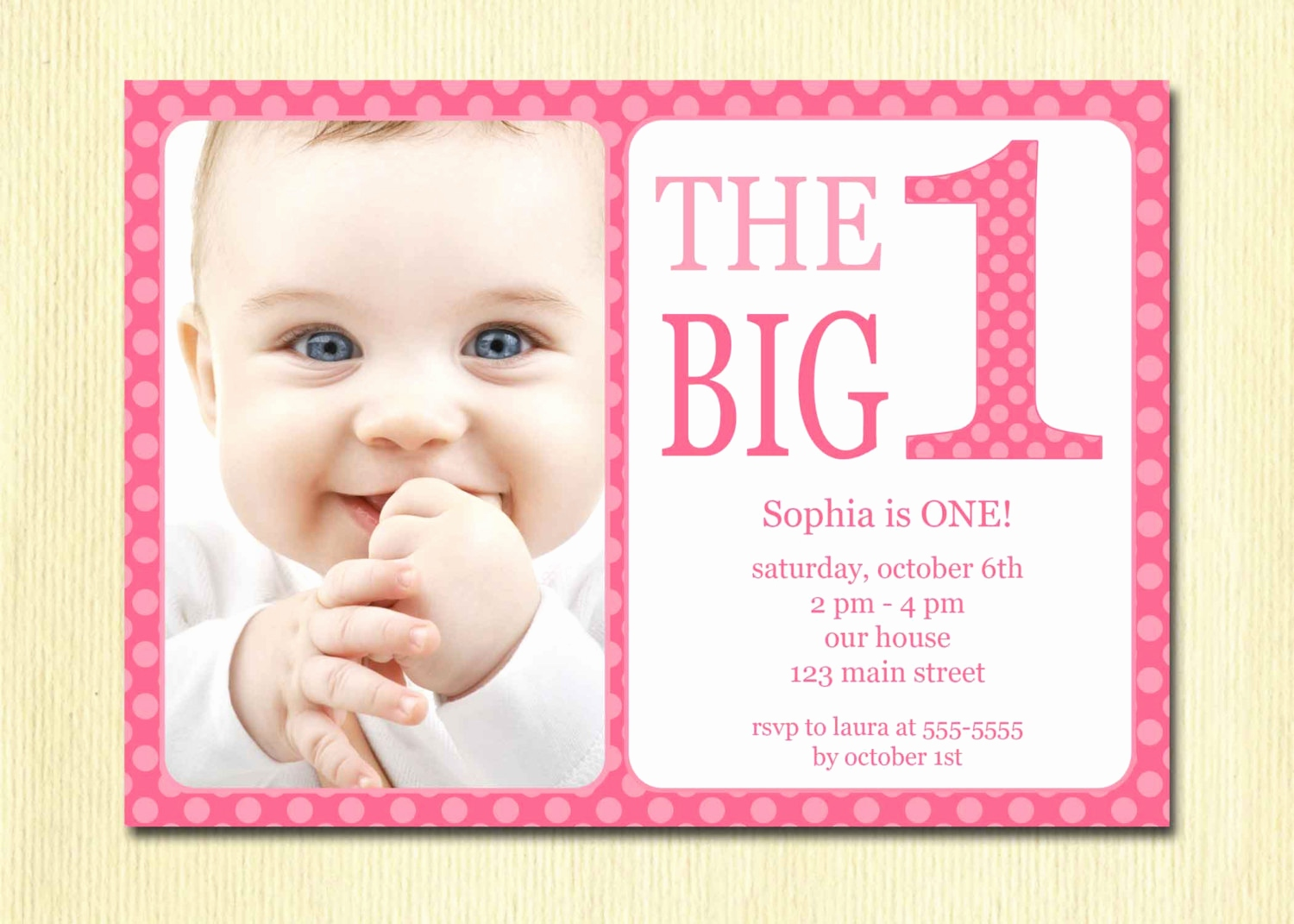 1st Birthday Invitation Template Online Card Maker