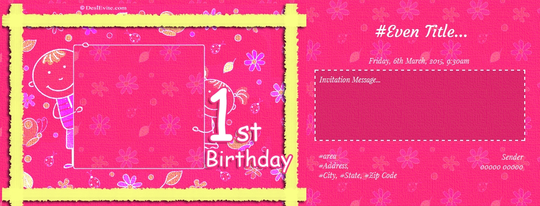 1st birthday invitation wording in marathi ; 1st-birthday-party-invitation-3-68