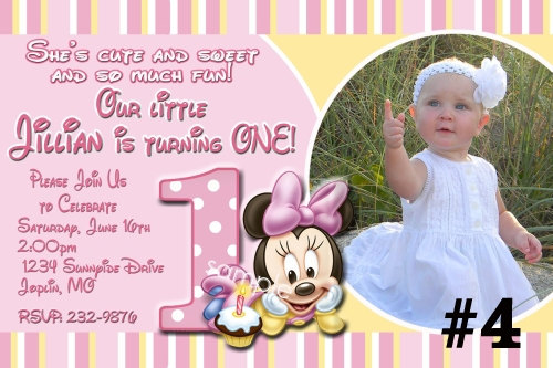 1st birthday minnie mouse photo invitations ; baby_minnie_mouse_custom_photo_first_birthday_invitation_digital_file_you_print_86afd128