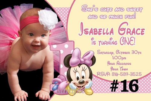 1st birthday minnie mouse photo invitations ; baby_minnie_mouse_first_birthday_invitations_-_20_printed_birthday_party_invites_with_photo_bd9a263b