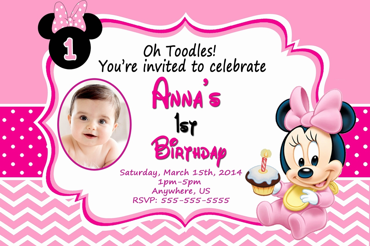 1st birthday minnie mouse photo invitations ; birthday-invitation-card-minnie-mouse-unique-minnie-mouse-1st-birthday-invitations-templates-of-birthday-invitation-card-minnie-mouse
