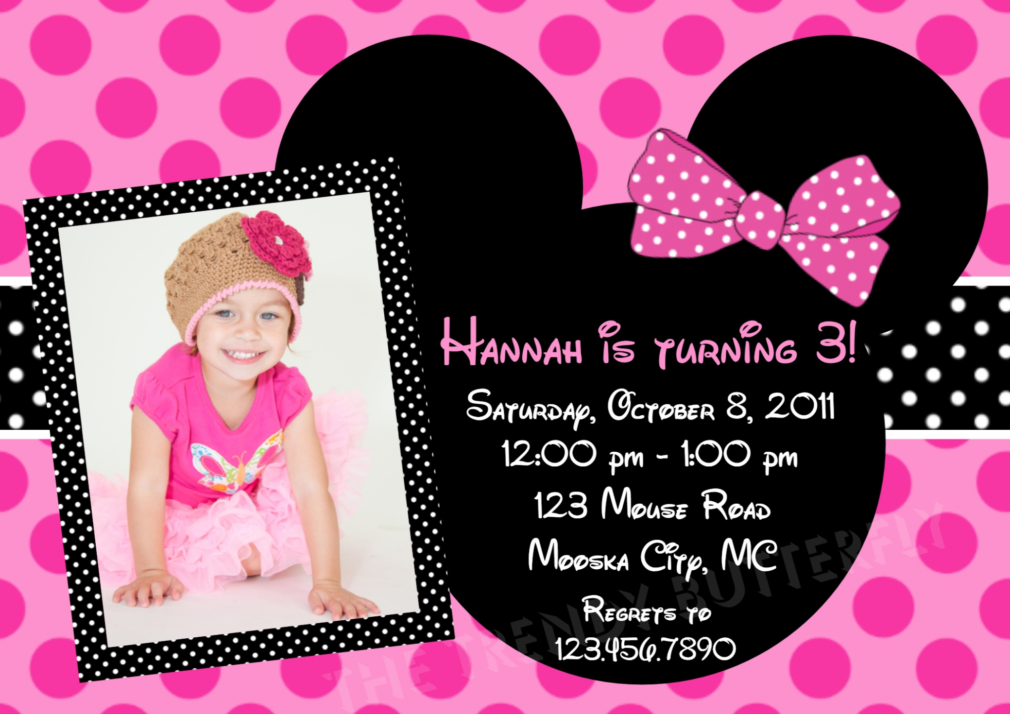1st birthday minnie mouse photo invitations ; first-birthday-party-invitation-templates-free-birthday-1st-birthday-minnie-mouse-invitations-alanarasbach