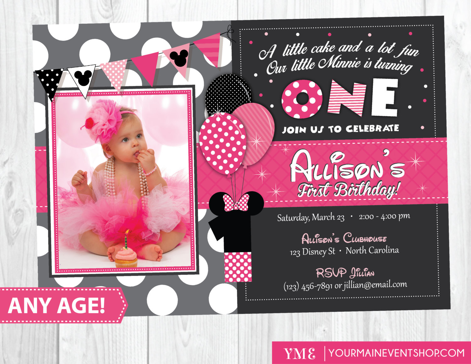 1st birthday minnie mouse photo invitations ; minnie-mouse-1st-birthday-invitations-with-some-beautification-for-your-Baby-Shower-Invitation-Templates-to-serve-delightful-environment-7