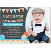 1st birthday photo invitations boy ; 35943