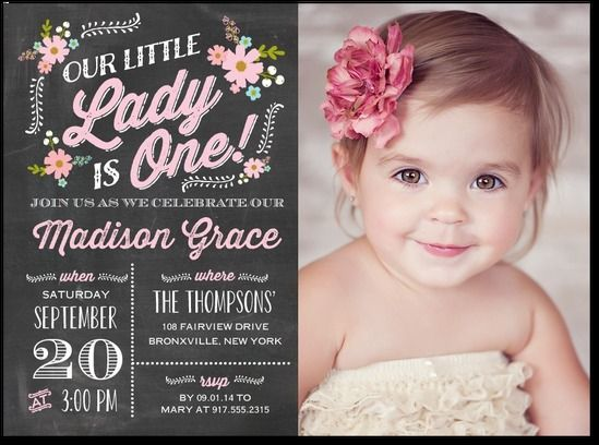 1st birthday photo invitations girl ; 1st-birthday-invitations-girl-best-25-first-birthday-invitations-ideas-on-pinterest-1st