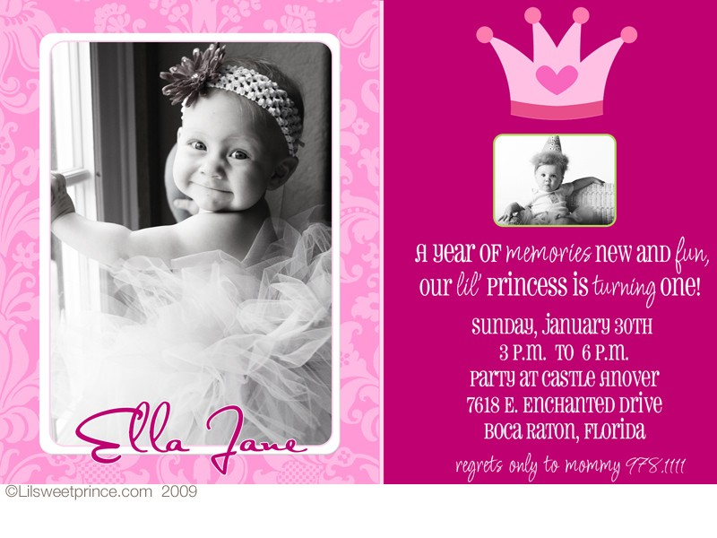 1st birthday photo invitations girl ; 2c6b4a22dff01e6d901e975745a65e76