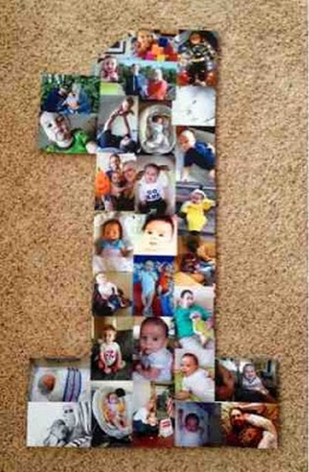 1st birthday picture collage ideas ; First-Girl-Birthday-Collage