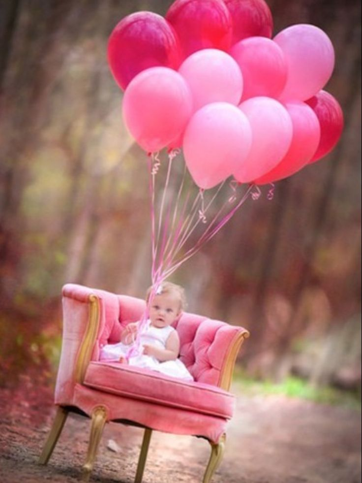 1st birthday picture ideas girl ; outside