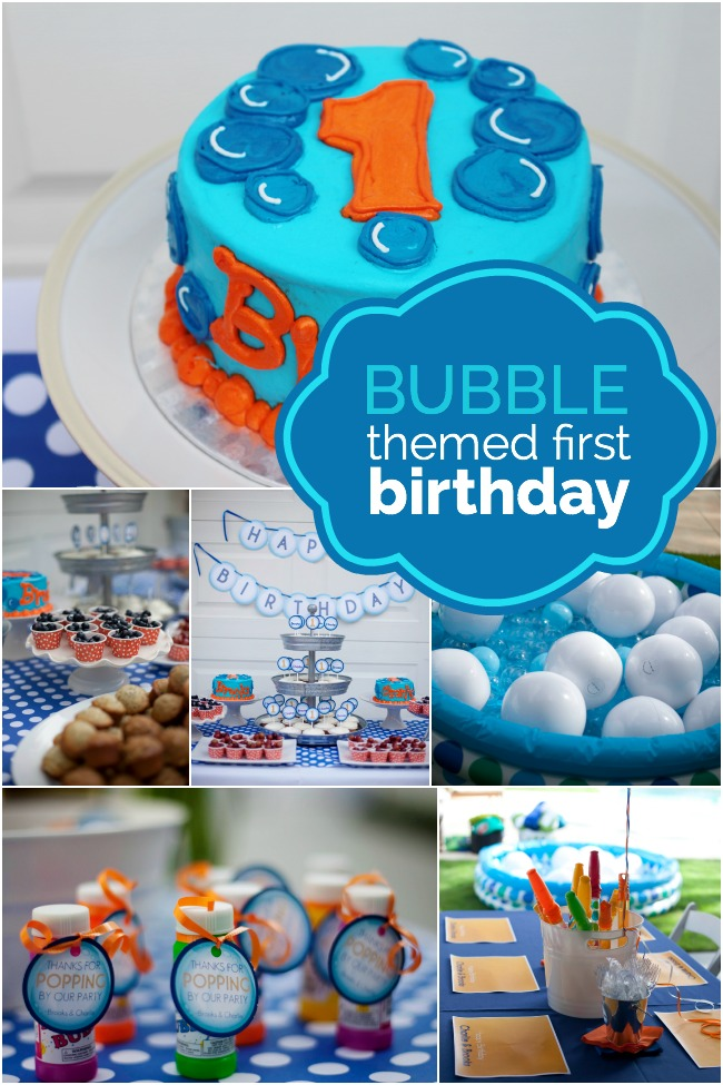 1st birthday themes ; bubble-themed-first-birthday-party