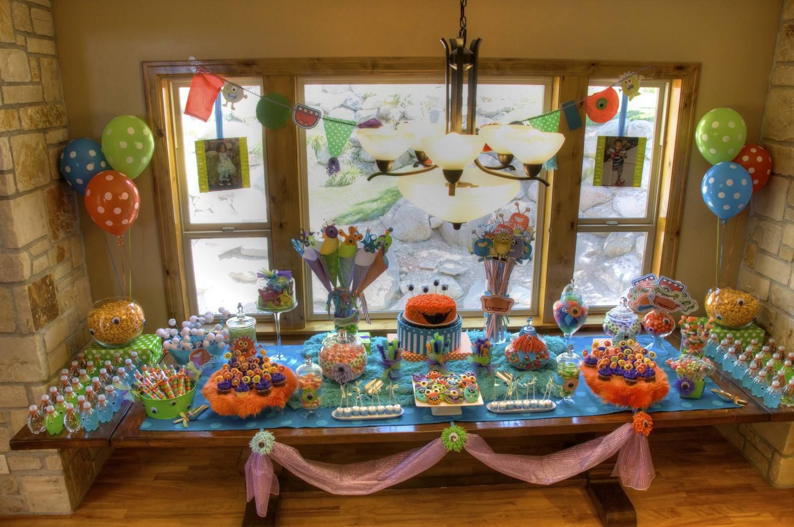 2 year old birthday party themes ; 110827+Ryder+%252526+Reagan+Monster+Party+6