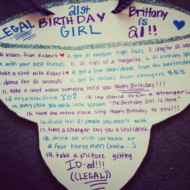 21 birthday sign list ideas ; 1d534b3e28267d16ea4e744ae20e4153--st-birthday-games--birthday-gifts