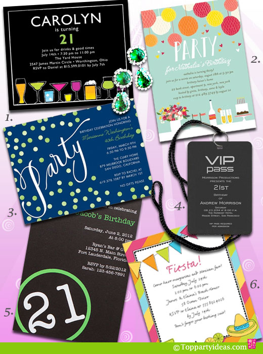 21 birthday sign list ideas ; 21BirthdayInvitations