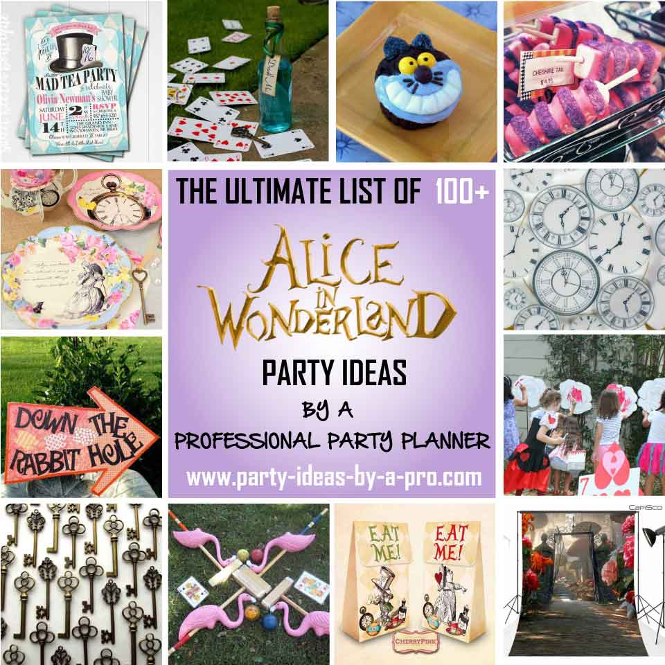 21 birthday sign list ideas ; aliceinwonderlandpartyideas