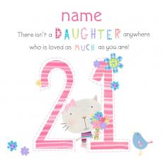 21st birthday card messages for daughter ; 09280pc