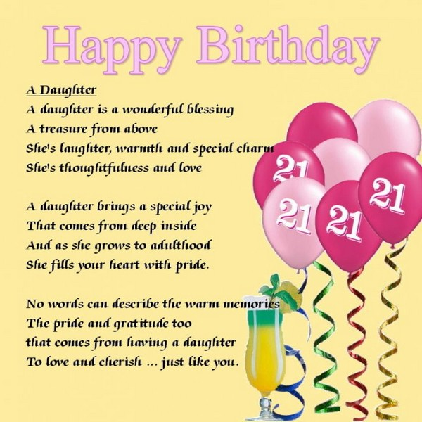 21st birthday card messages for daughter ; birthday-wishes-for-1-year-old-daughter