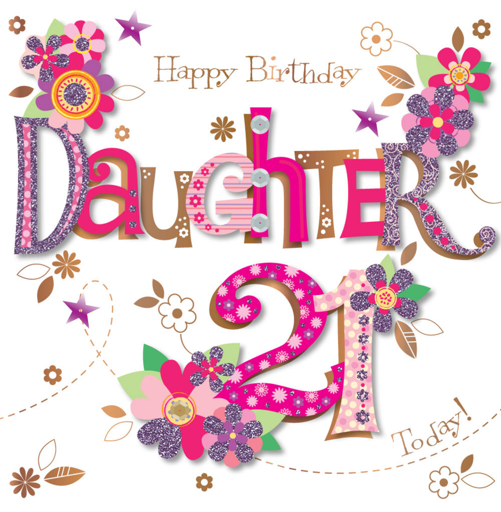 21st birthday card messages for daughter ; lrgscaleMWER0071_F