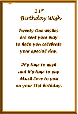 21st birthday card messages for daughter ; mol21card