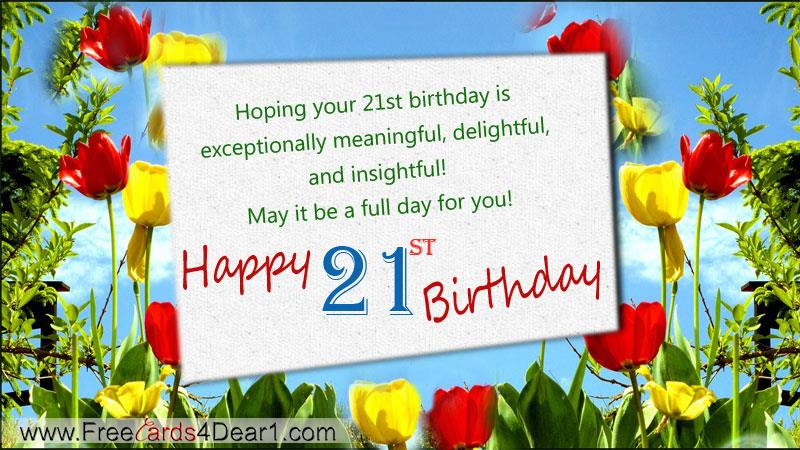 21st birthday greeting cards ; 21th-birthday-ecard