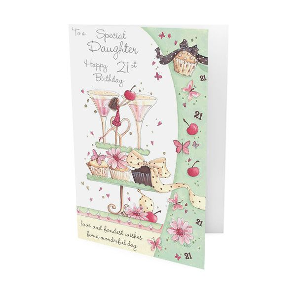 21st birthday greeting cards ; Daughter-21st-Birthday-Greeting-Card-33749-p