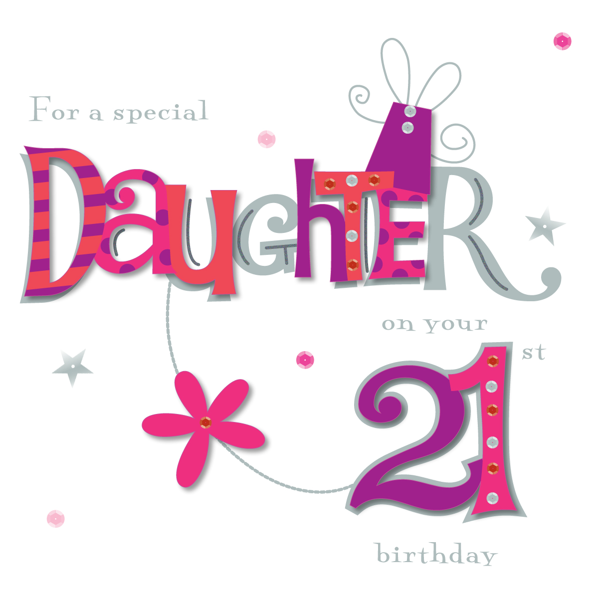 21st birthday greeting cards ; MW6024_F