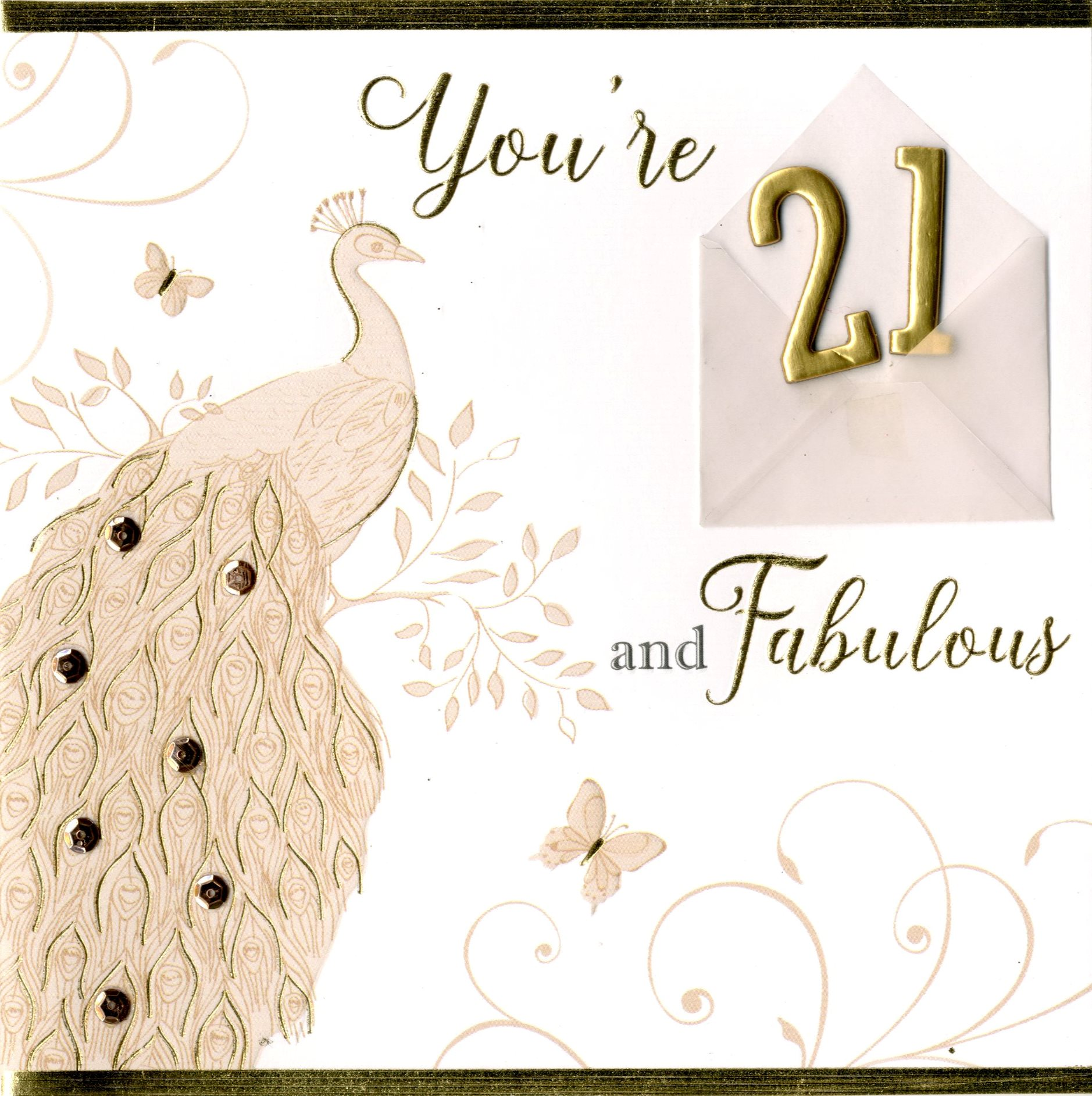 21st birthday greeting cards ; NH039