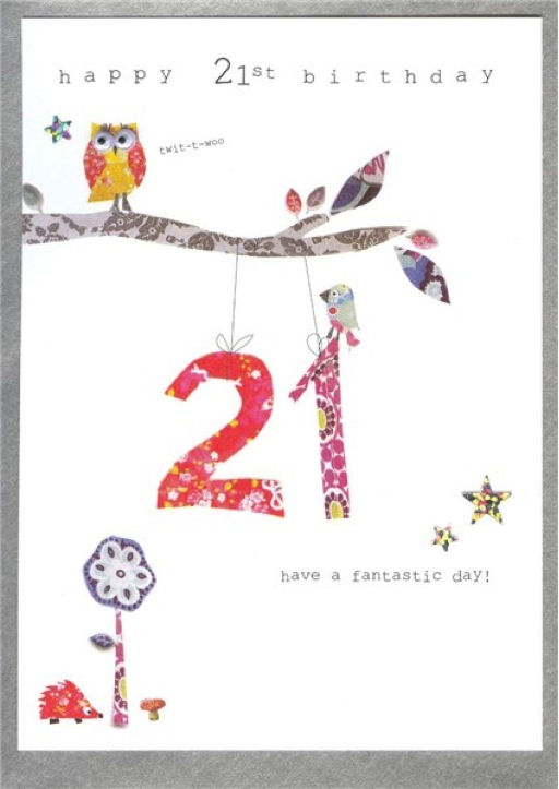 21st birthday greeting cards ; cinnamon-aitch-21st-birthday-greeting-card-wp32