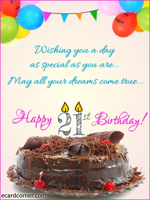 21st birthday greeting cards ; f086dd341c7d002864b64e93b62cd442
