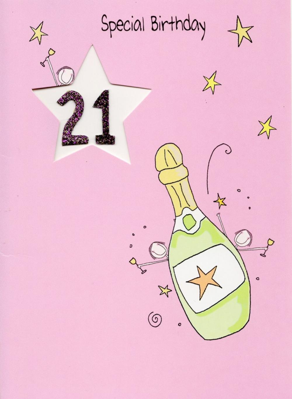 21st birthday greeting cards ; lrgscaleLV053a-21st-Birthday-Card