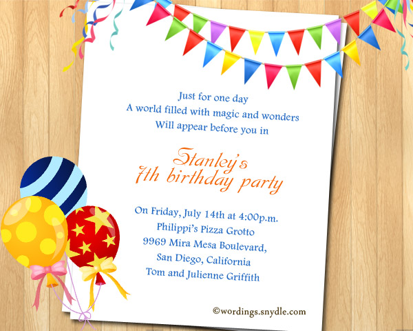 2nd birthday party invitation wording samples ; kids-birthday-invitation-wording-samples-7th-birthday-party-invitation