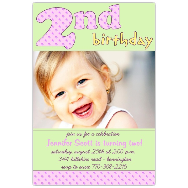2nd birthday photo invitations ; 2nd-birthday-pink-invitations-paperstyle-2nd-birthday-invitations