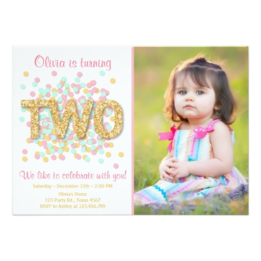 2nd birthday photo invitations ; 92122bfc54a35e459fcc204c5e9b2058