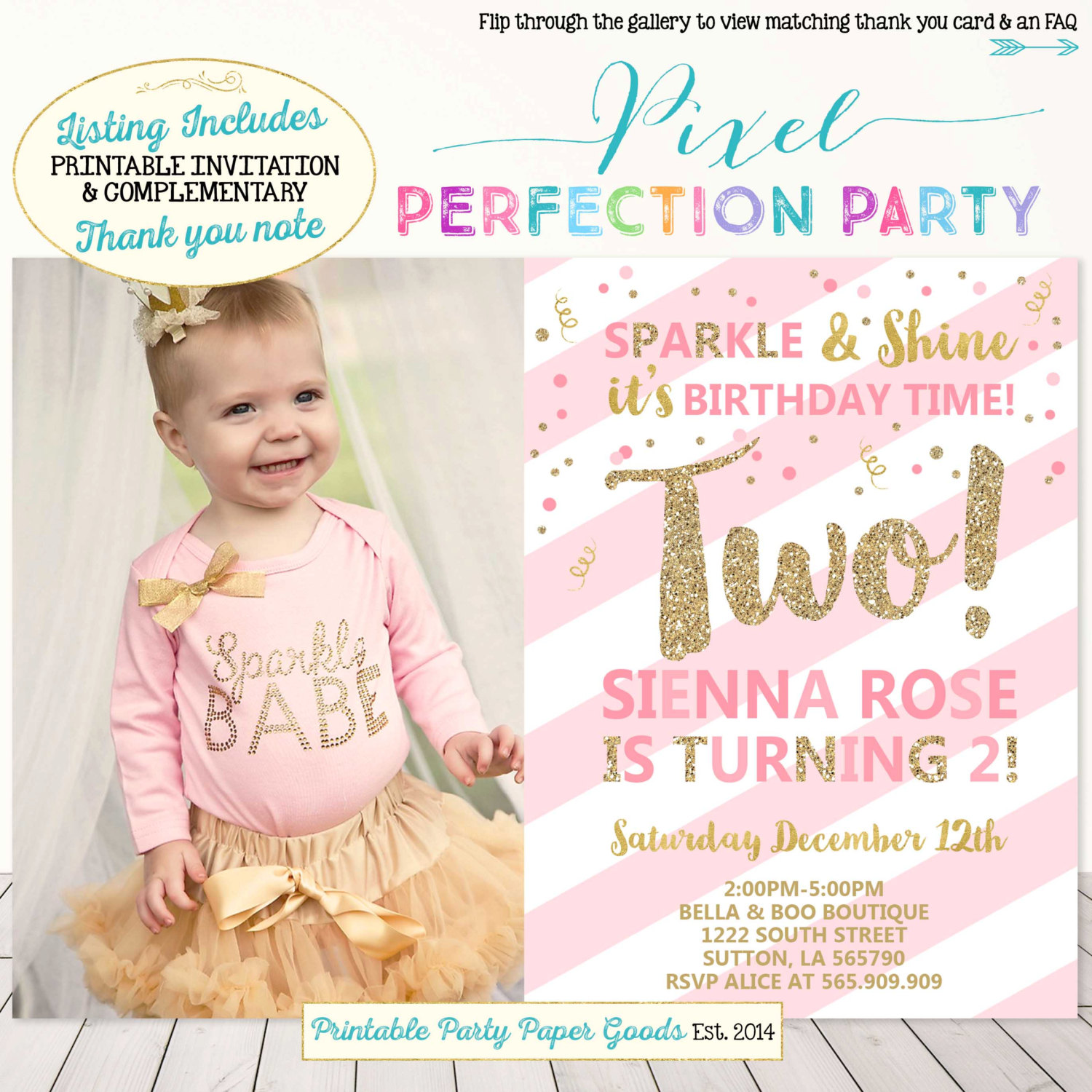2nd birthday photo invitations ; Elegant-2Nd-Birthday-Invitations-As-Prepossessing-Ideas-Birthday-Party-Invitations