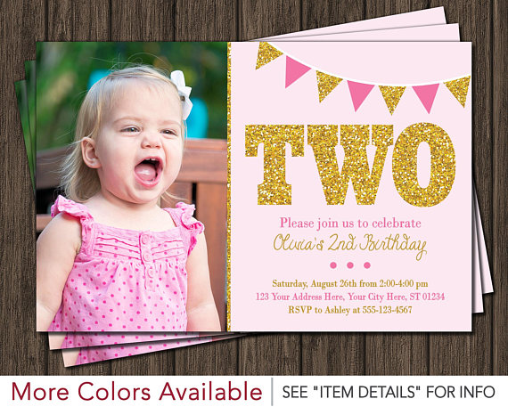 2nd birthday photo invitations ; pink-and-gold-2nd-birthday-invitation-second-birthday-2nd-birthday-invitations
