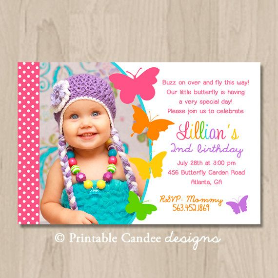 3 Year Old Birthday Invitation Templates Butterfly Invitations And Terrific