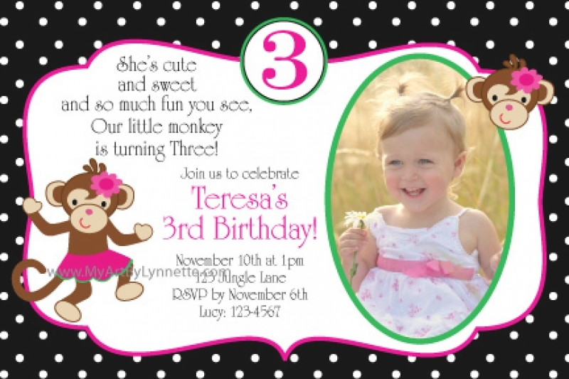 3 Year Old Birthday Invitation Templates Wording