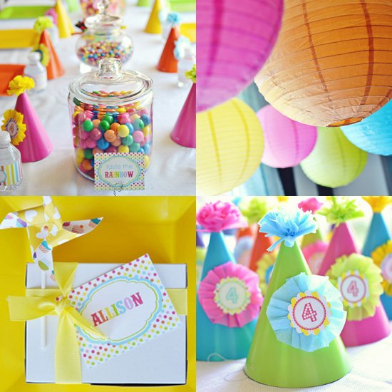 3 year old birthday party themes girl ; Rainbow-Birthday-Party