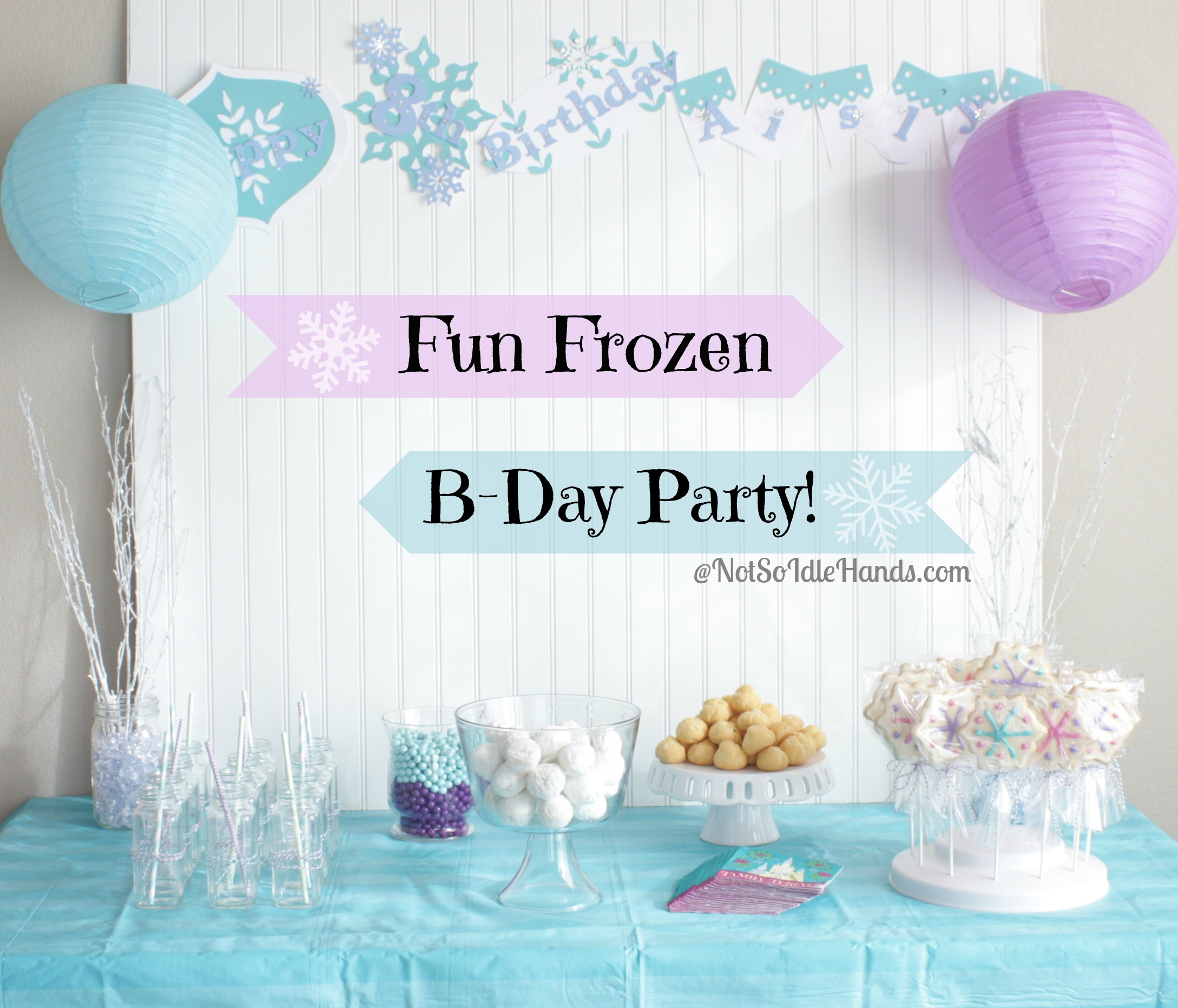 3 year old birthday party themes girl ; frozen-party-3