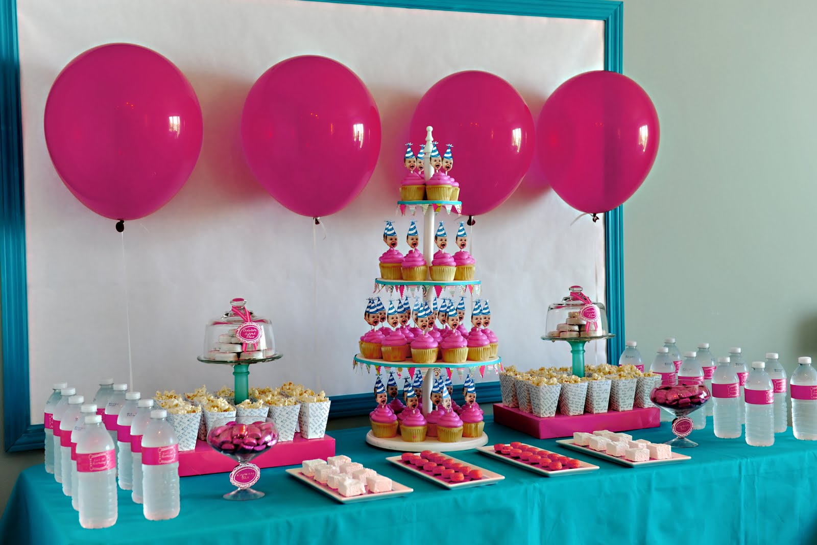 3 year old birthday party themes girl ; table