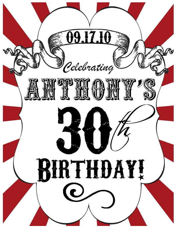 30th birthday border ; Anthony%2527s+30th+Birthday+Logo