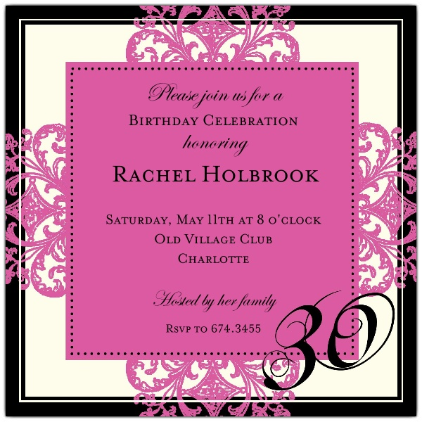 30th birthday border ; Decorative-Square-Border-Pink-30th-Birthday-Invitations-p-603-55-673-30-z