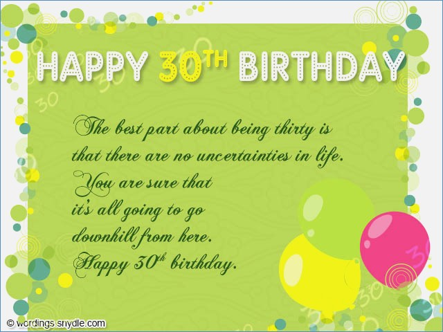 30th Birthday Card Messages For Friend Wishes Wordings And