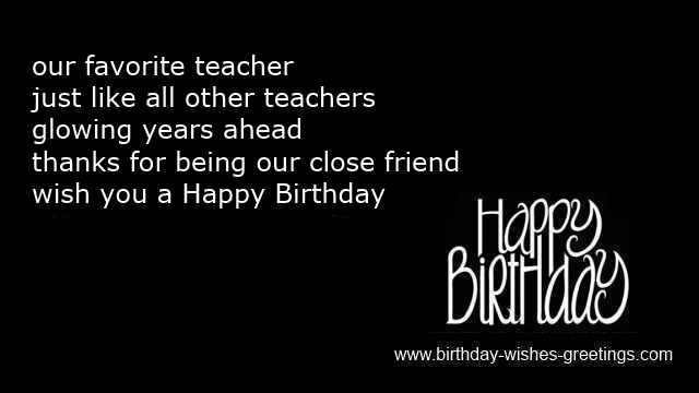 30th birthday card messages for friend ; funny-birthday-wish-teacher