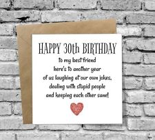 30th birthday card messages for friend ; s-l225