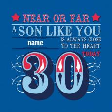 30th birthday card messages for son ; 09284pc