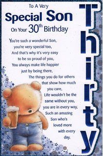 30th birthday card messages for son ; 98450818ee8948215481ed6dd912e848