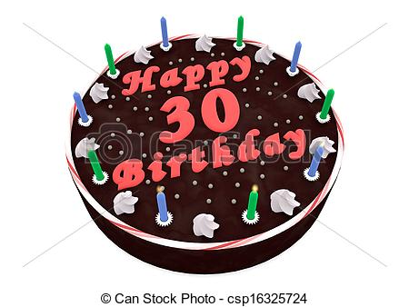 30th birthday clip art images ; chocolate-cake-for-30th-birthday-clip-art_csp16325724